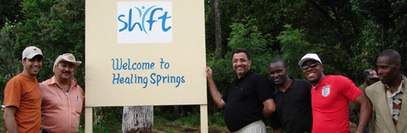 Dr Amyn Dahya + SHIFT TEAM at the Healing Springs