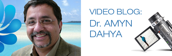 Dr. Amyn Dahya + video camera